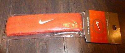 Nike mens womens headband new orange sweatband band