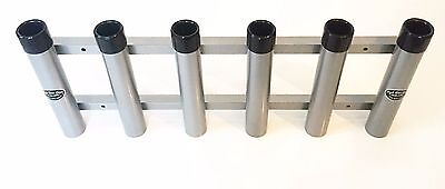 - Aluminum Rod Storage Holder 6 with protective end caps. High Seas Gear Rod Racks