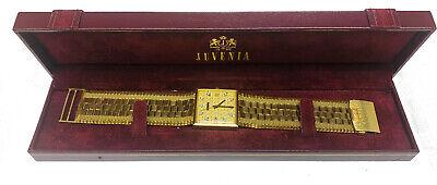Juvenia Macho 18k Solid Yellow Gold & Diamonds Automatic Men's Wrist Watch w/box