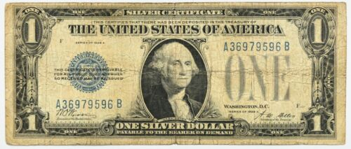 """1928 A Series """"Funny Back"""" lot of 4 One Dollar Silver Certificates $1 Blue Seal"""