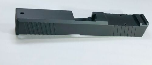 Slide for Glock 19 Gen3 RMR Cut, Front and Rear Angled Serration, USA MADE-BLACK