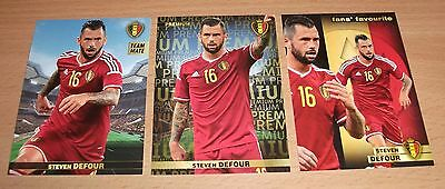 PANINI CARREFOUR LOT 29 50 127/180 - BELGIAN RED DEVILS TOUS ENSEMBLE - DEFOUR