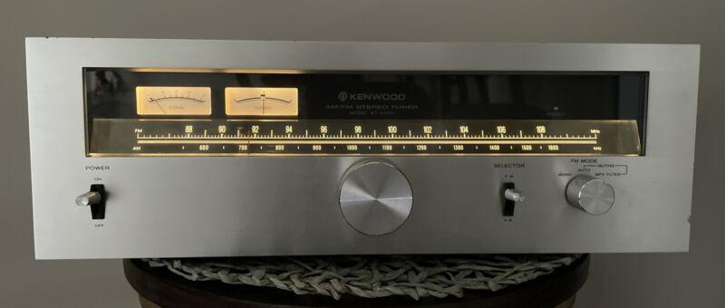 VINTAGE KENWOOD KT-6500 FM-AM TUNER TESTED