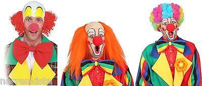 Perücke Clown Clownin Clownperücke Frack Latzhose Glatze Locken Kostüm Kleid ()