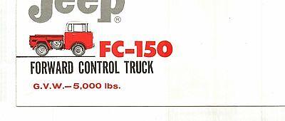 1962 JEEP FC-150 FORWARD CONTROL TRUCK COLOR SALES FOLDER