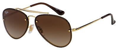 Ray-Ban Junior Blaze Aviator Sunglasses RJ 9548SN 223/13 54 Gold |Brown Gradient