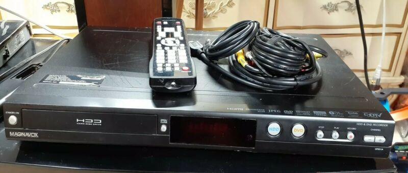 Magnavox MDR535H/F7 HDD & DVD Recorder w/ Remote & Cables - Works Perfectly