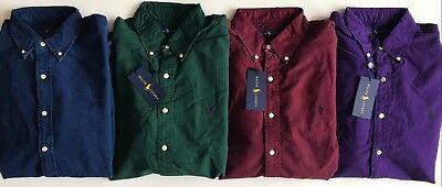 Indigo Mens Shirt - $90 NWT Mens Polo Ralph Lauren Classic Fit Oxford Button Down Shirt Wine Indigo