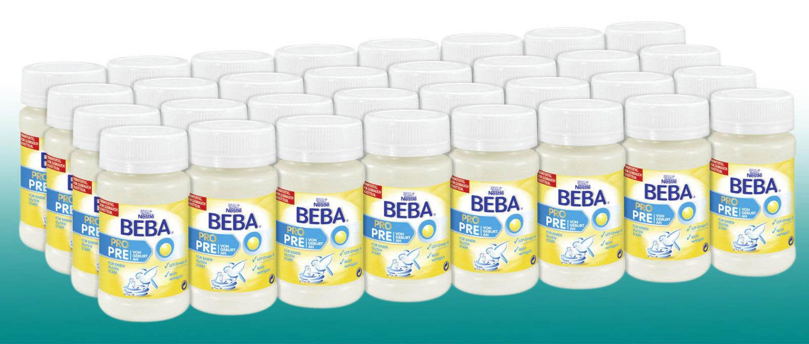 (11,45 €/Liter) Nestlé Beba PRO PRE TRINKFERTIG Babynahrung 32x90ml  Baby