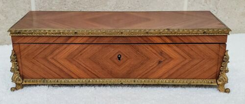 Antique 19th Century French Kingwood and Ormolu Glove Box