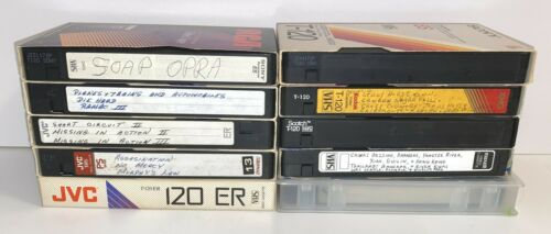 Lot Of 10 Pre-Recorded Used VHS Tapes Sold As Blanks Scotch JVC Sony Maxell