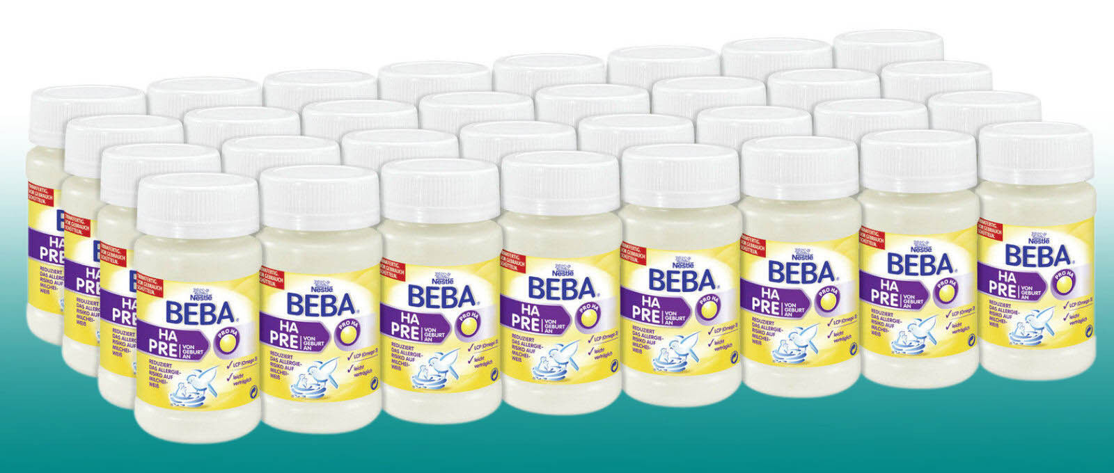 (12,15 €/Liter) Nestlé Beba HA PRE TRINKFERTIG Babynahrung 32x90ml  Baby