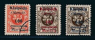 MEMEL 1923 MI 132 34 GESTEMPELT H CHSTWERTE TADELLOS