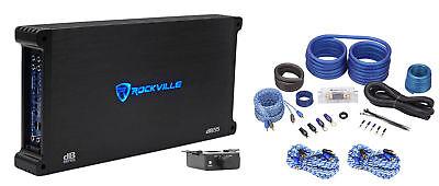 Rockville dB55 4000 Watt/2000w RMS 5 Channel Car Stereo Amplifier+Amp Kit Loud ! ()
