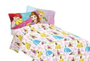 Disney Bedazzling Princess Kids Twin Sheet Set 3 Piece
