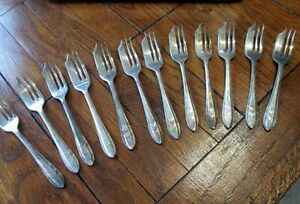 Loxley 1935 E.P.N.S. Sheffield England Pastry Forks Kitchener / Waterloo Kitchener Area image 1