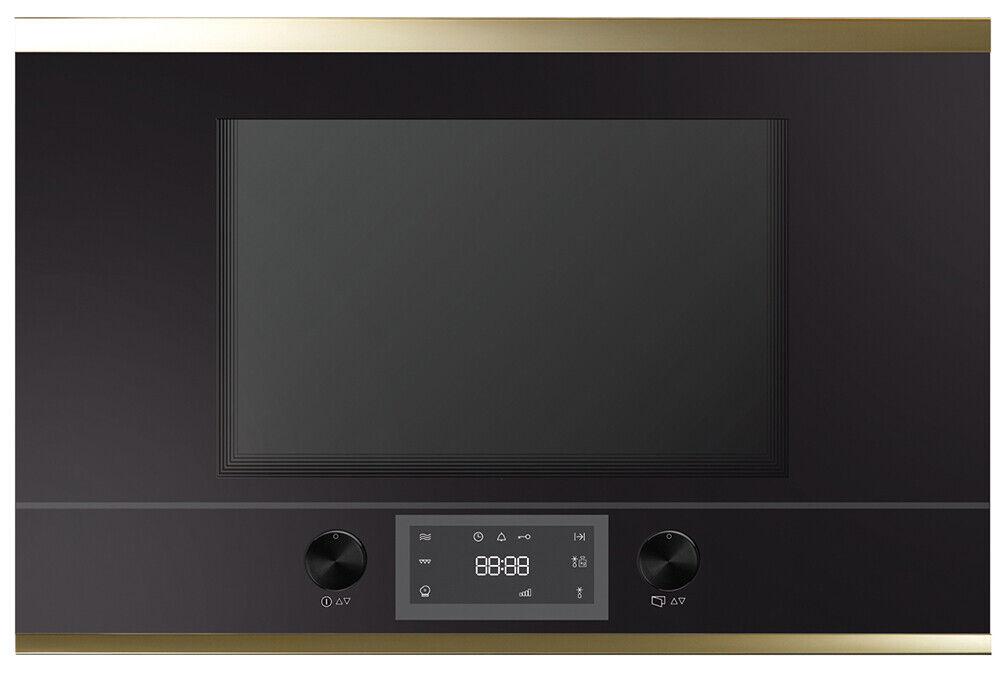 Küppersbusch 38cm Mikrowelle Rechtsanschlag schwarz / Gold Auftauautomatik, 22 l