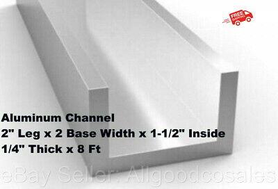 Aluminum Channel 2 Leg X 2 Base Width X 1-12 Inside X 14 Thick X 8 Ft