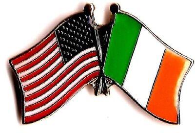 LOT OF 3  Ireland Friendship Flag Lapel Pins - Irish Crossed Flag Pin