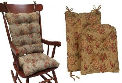 Klear Vu The Gripper Non-Slip Somerset Tapestry Jumbo Rocking Chair Cushions