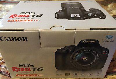 Canon EOS Rebel T6 DSLR Camera EF-S 18-55 IS II Kit - WiFi - NEW  - Free Ship!