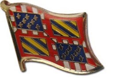 Wholesale Pack of 50 Burgundy Country Flag Bike Hat Cap lapel Pin