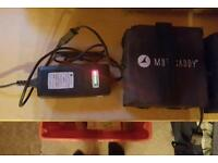 Motorcady batteries and charger