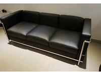 Le Corbusier replica 3 seater leather sofa