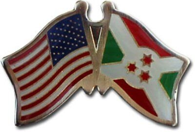Wholesale Pack of 50 USA American Burundi Friendship Flag Hat Cap lapel Pin