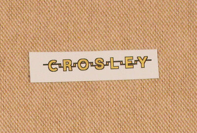 Crosley Radio Logo Water Slide Decal - Old Antique Wood Vintage Tube Radio -