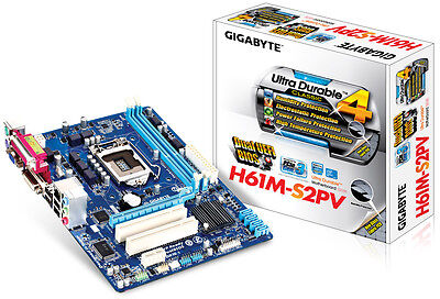 Gigabyte H61M-S2PV Motherboard, LGA 1155, DDR3, Intel H61, Micro ATX, Rev2.2 for sale  Shipping to Canada
