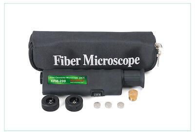 400x Magnification New Scope Komshine Kfm-200 Fiber Optic Connector Microscope