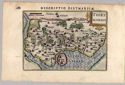 Thietmarsia. Descriptio Dietmarsiae. Dithmarschen. Karte-Map Kaerius 1602