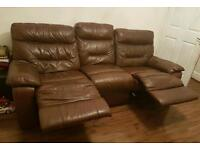 3 seater recliner with a armchair recliner