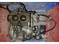 Triumph 6T thunderbird motorbike 650cc twin 1968 barn find, restoration project