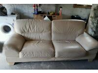 3 seater lether sofa