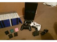 Ps2 collection (5 memory cards, 3 controllers and eye toy)