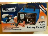 Draper car battery charger, brand new in box