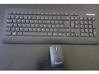 Lenovo Ultraslim Plus Wireless Keyboard & Mouse Fully working New RRP£35