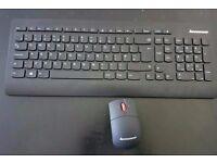 Lenovo Ultraslim Plus Wireless Keyboard & Mouse Fully working New RRP£35