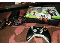 Xbox 360 slim 4gb 3games and 1pad