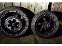 Gilera st125 wheels with tires