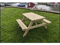 Picnic Bench, Handmade, Heavy Duty, Admiral, Pub Style 1.2m/4ft
