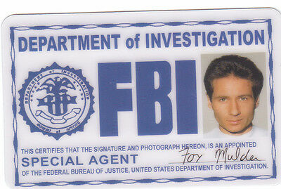 fun Halloween Costume Accessory Agent Fox Mulder the Xfiles Drivers License  (Mulder Halloween Costume)