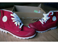 Palladium 'Blanc Hi' Retro canvas military style boots (size 9).