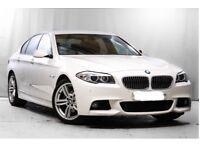 "BMW 5 Series, 520d, M Sports, Saloon, Auto. Full Leather, FSH, 6.5"" Monitor, 9"" Alloys."