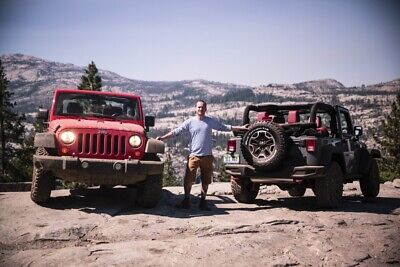 MOTOR-TALK-Redakteur Philipp Monse mit dem Jeep Rubicon auf dem Rubicon Trail