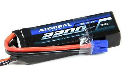 Admiral 2200mAh 3S 11.1V 35C LiPo Battery with EC3 Connector