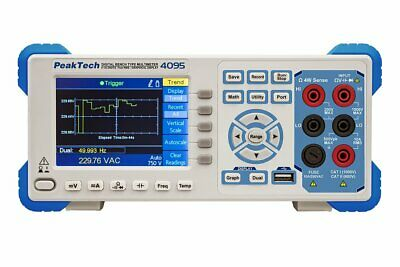 Peaktech P4095 4 12 Digit Graphical Bench Multimeter Tft 4.5 Digits Dmm