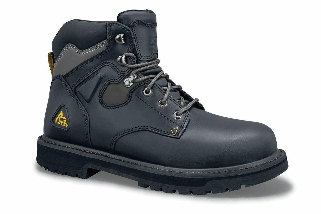 Ace Shoes for Crews Men's Providence Steel Toe Slip Resistan